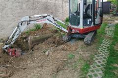 demolice betonového základu