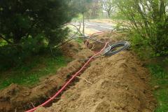 pokládka vody a elektřiny