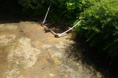zásyp výkopkem, zavezení pískem a štěrkem pro položení nového povrchu
