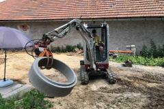 uložení skruže (cca 300 kg)